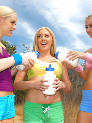 Check out these hot camping lesbian babe dildo fuck their hot pussies in these lesbo 3way pussy fuckfest pics and big hd movie - Pics