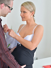 Naughty mom gets fucked hard by huge cock at work - Pics