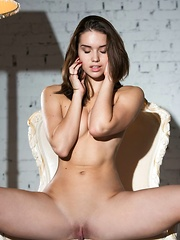 With smoldering brown eyes, sultry look on her pretty face, and her curvaceous body clad in sexy black lingerie, Aza B is a stunning sight to behold. - Pics