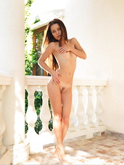 With a glowing, sunkissed complexion, perfect proportions, and exquisite assets, Amelia B is a breathtaking beauty in the veranda. - Pics