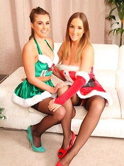 Stacey and Sarah looking amazing for Christmas - Pics