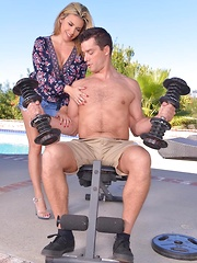 Tone That Muscle - Busty Blonde Stuffed By Strong Stud - Pics