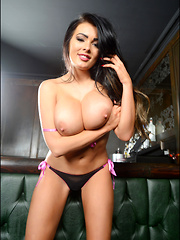 The lovely 34G Charley Atwell is here to brighten our day, make our weekend and show off her big boobs - Pics