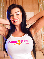 We have a lot of super hot big busted babes who come through our hallowed digital halls here at PinupFiles, but one of the truly HOTTEST that we have ever seen here or anywhere is back again to brighten your Monday just in time, Sha Rizel. - Pics