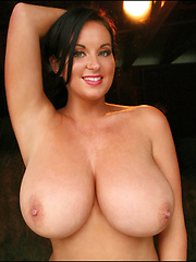 Sarah's sizzling smile, charismatic beauty and perfectly shaped H-cup big boobs have made her nothing less than an absolute smash hit and now she is back once again in another fantastic photo set, showing off her incredible frame and amazing beauty. - Pics