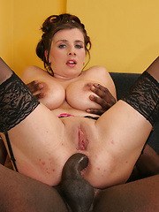 Hot MILF with huge udders take black cock in the ass! - Pics