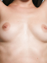 Malena plays with her soft breasts and wet pussy - Pics