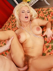 Hairy babe gets fucked hard in ass & pussy in many positions